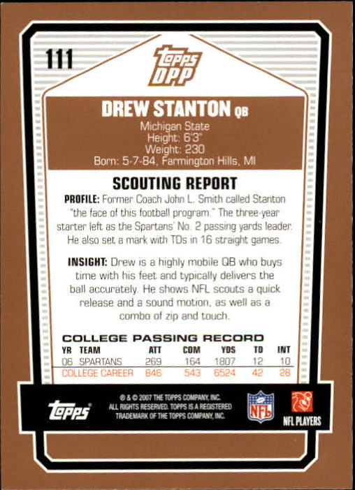 2007-Topps-Draft-Picks-and-Prospects-Football-Base-Singles-Pick-Your-Cards thumbnail 69