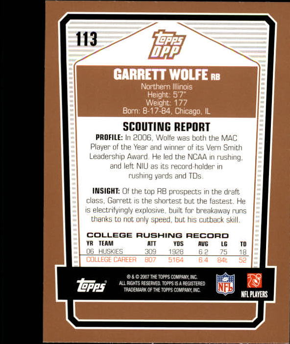 2007-Topps-Draft-Picks-and-Prospects-Football-Base-Singles-Pick-Your-Cards thumbnail 71