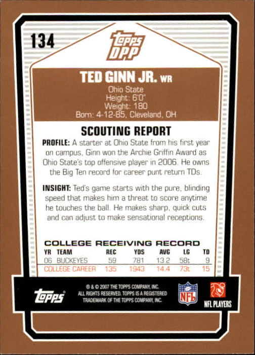 2007-Topps-Draft-Picks-and-Prospects-Football-Base-Singles-Pick-Your-Cards thumbnail 81