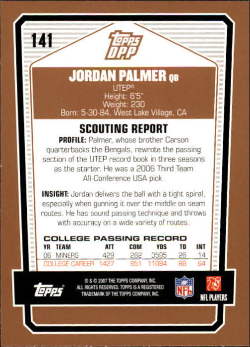 2007-Topps-Draft-Picks-and-Prospects-Football-Base-Singles-Pick-Your-Cards thumbnail 87