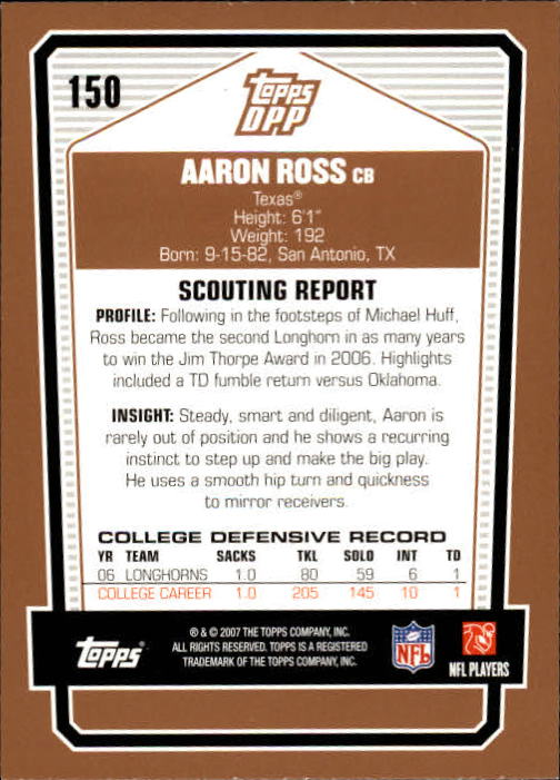 2007-Topps-Draft-Picks-and-Prospects-Football-Base-Singles-Pick-Your-Cards thumbnail 93
