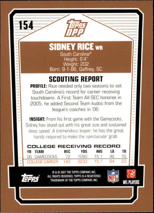 2007-Topps-Draft-Picks-and-Prospects-Football-Base-Singles-Pick-Your-Cards thumbnail 97