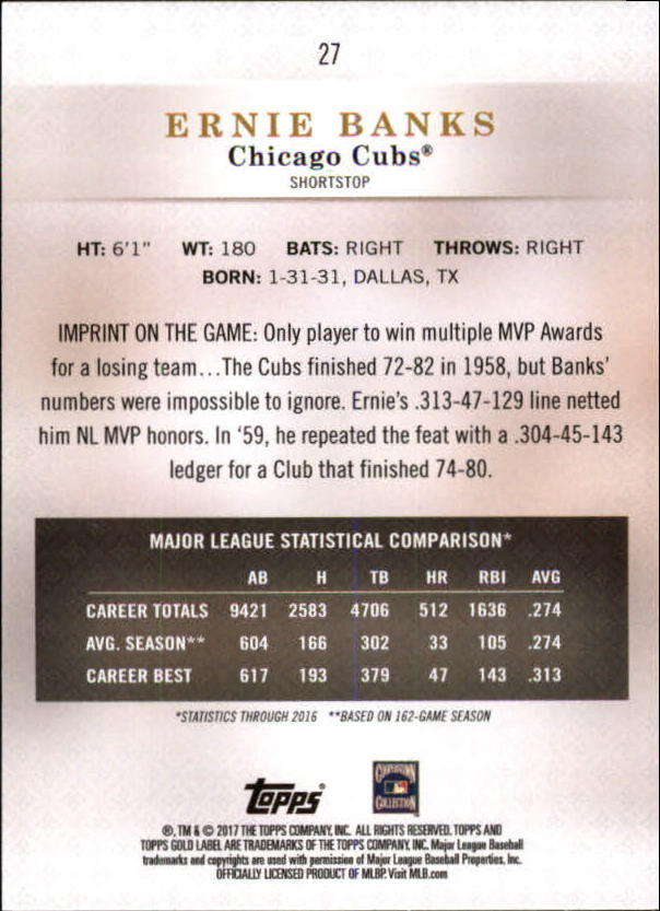 2017-Topps-Gold-Label-Baseball-Class-3-Singles-Pick-Your-Cards miniature 17
