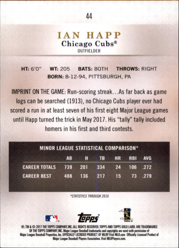 2017-Topps-Gold-Label-Baseball-Class-3-Singles-Pick-Your-Cards miniature 33
