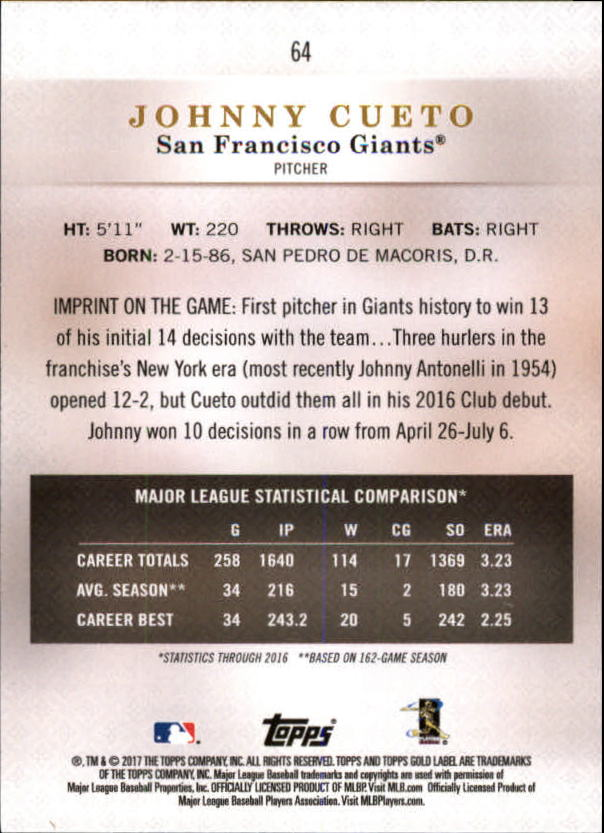 2017-Topps-Gold-Label-Baseball-Class-3-Singles-Pick-Your-Cards miniature 37