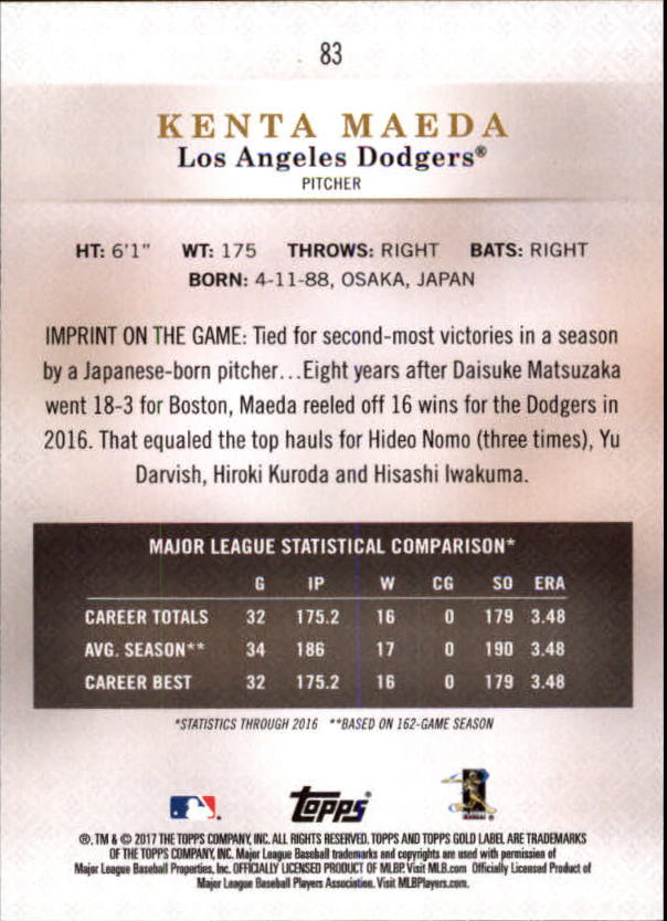 2017-Topps-Gold-Label-Baseball-Class-3-Singles-Pick-Your-Cards miniature 55