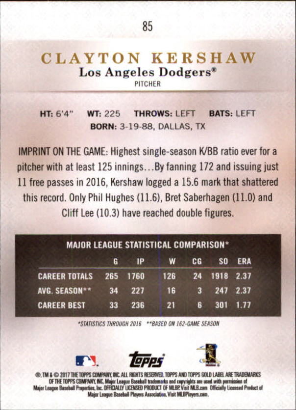 2017-Topps-Gold-Label-Baseball-Class-3-Singles-Pick-Your-Cards miniature 57