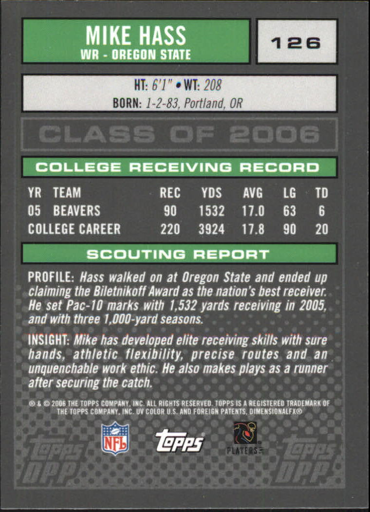 2006-Topps-Draft-Picks-and-Prospects-Football-Parallel-Singles-Pick-Your-Cards thumbnail 23