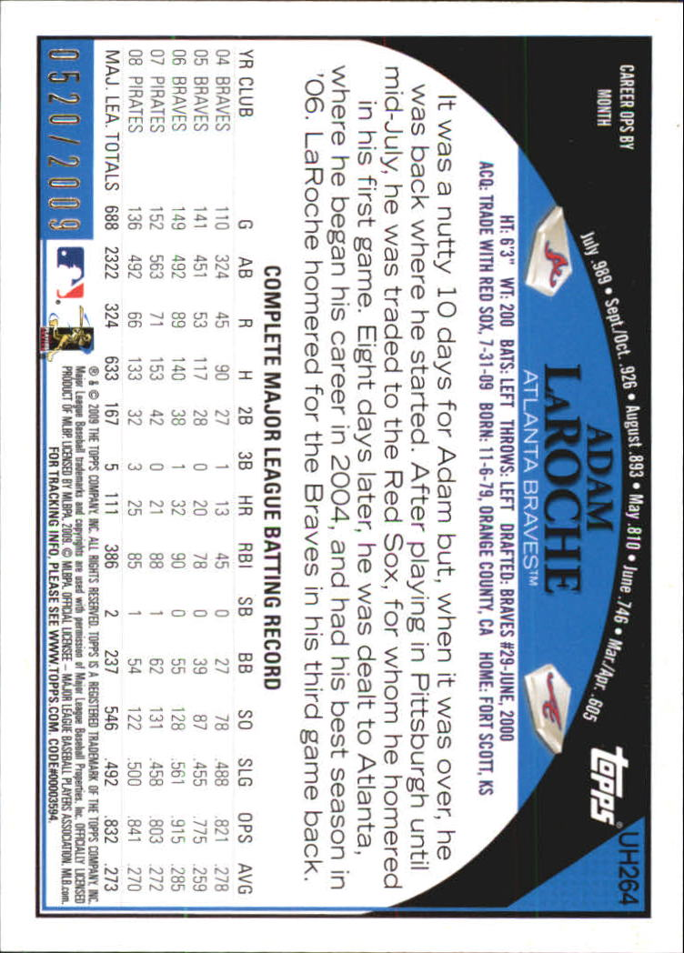 miniature 16 - 2009 Topps Update Baseball Insert/Parallel Singles (Pick Your Cards)