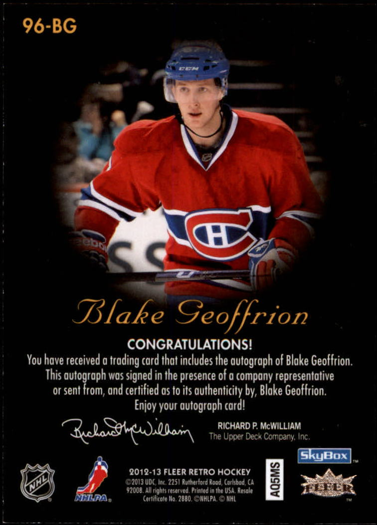 2012-13-Fleer-Retro-Hockey-Autograph-Singles-Pick-Your-Cards thumbnail 3