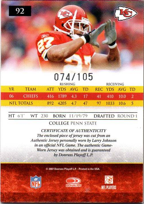 2007-Donruss-Gridiron-Gear-Football-Autograph-Jersey-Singles-Pick-Your-Cards thumbnail 3