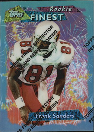 1995 Topps Finest #216 Frank Sanders RC NFL Football Trading Card