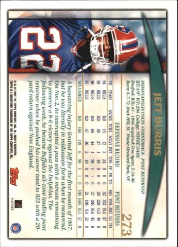 1998-Topps-Football-Base-Singles-119-347-Pick-Your-Cards thumbnail 237