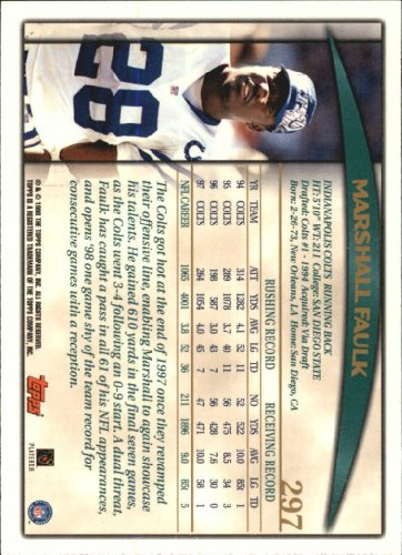 1998-Topps-Football-Base-Singles-119-347-Pick-Your-Cards thumbnail 277
