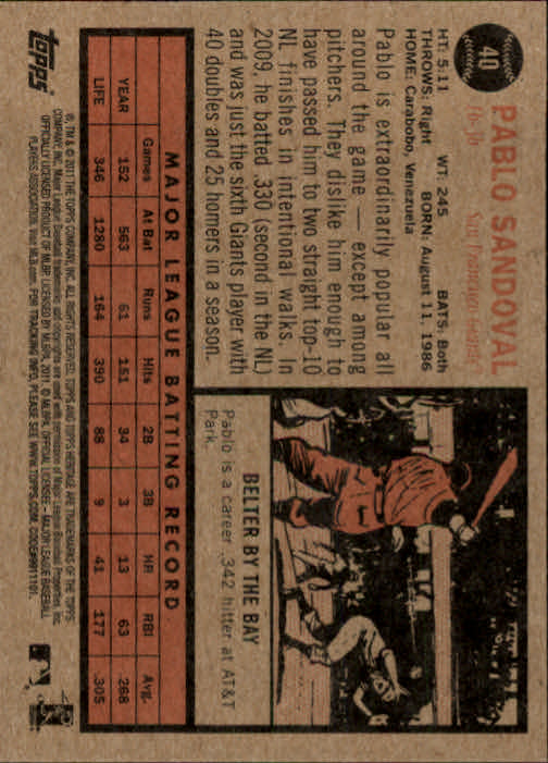 2011-Topps-Heritage-Baseball-Base-Singles-Pick-Your-Cards thumbnail 39