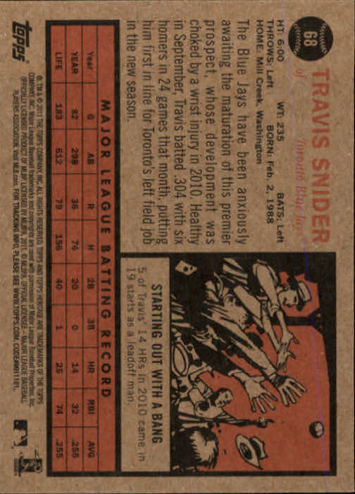 2011-Topps-Heritage-Baseball-Base-Singles-Pick-Your-Cards thumbnail 59