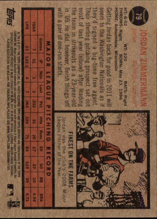 2011-Topps-Heritage-Baseball-Base-Singles-Pick-Your-Cards thumbnail 75