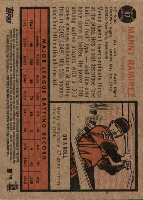 2011-Topps-Heritage-Baseball-Base-Singles-Pick-Your-Cards thumbnail 82