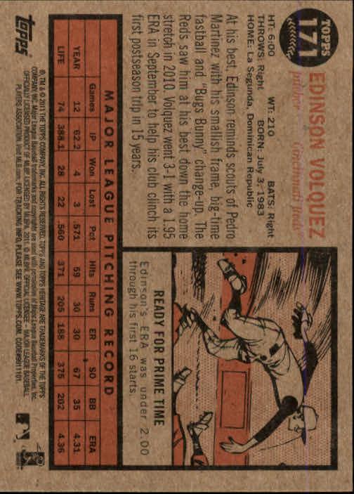 2011-Topps-Heritage-Baseball-Base-Singles-Pick-Your-Cards thumbnail 199