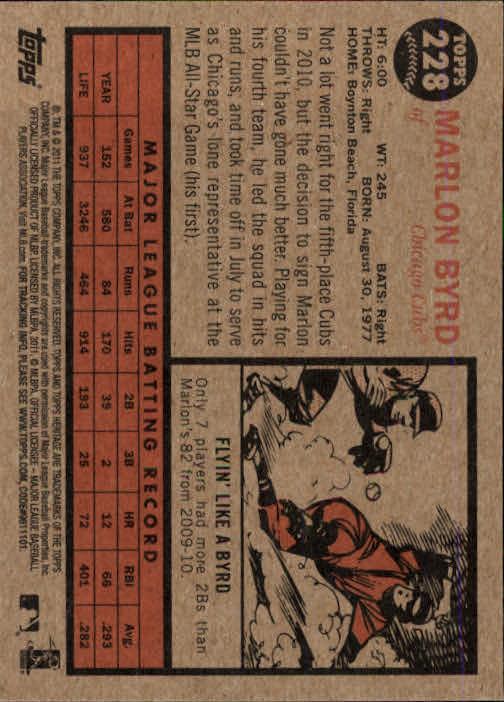2011-Topps-Heritage-Baseball-Base-Singles-Pick-Your-Cards thumbnail 258