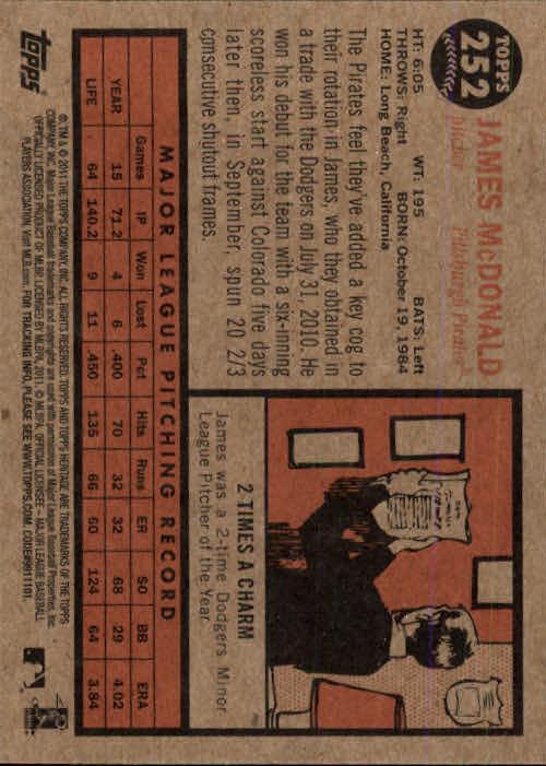 2011-Topps-Heritage-Baseball-Base-Singles-Pick-Your-Cards thumbnail 282