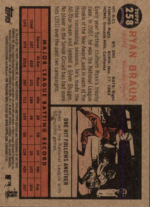 2011-Topps-Heritage-Baseball-Base-Singles-Pick-Your-Cards thumbnail 292