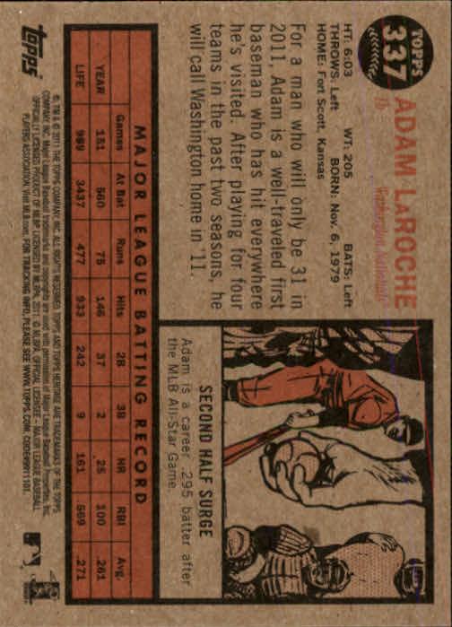 2011-Topps-Heritage-Baseball-Base-Singles-Pick-Your-Cards thumbnail 376