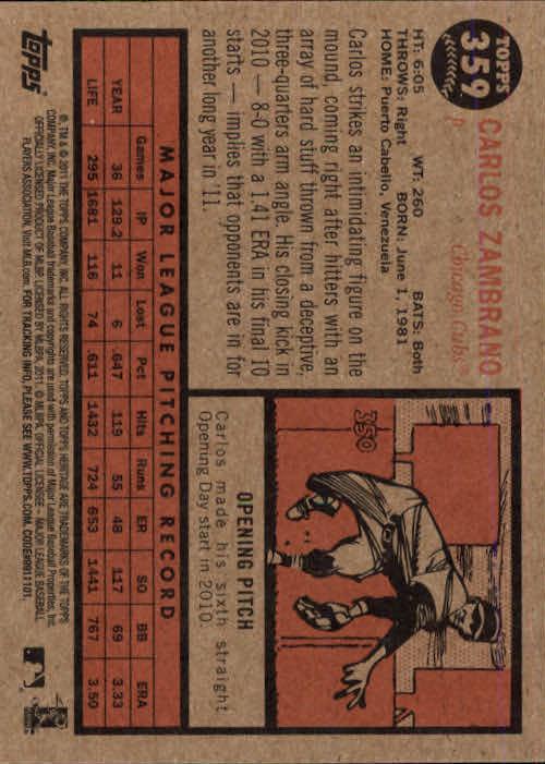 2011-Topps-Heritage-Baseball-Base-Singles-Pick-Your-Cards thumbnail 406