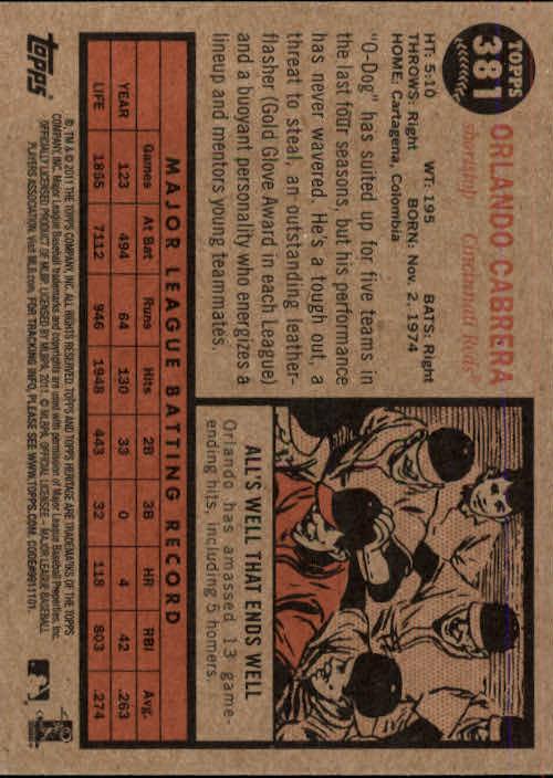 2011-Topps-Heritage-Baseball-Base-Singles-Pick-Your-Cards thumbnail 419