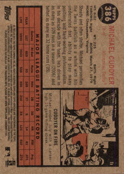 2011-Topps-Heritage-Baseball-Base-Singles-Pick-Your-Cards thumbnail 431