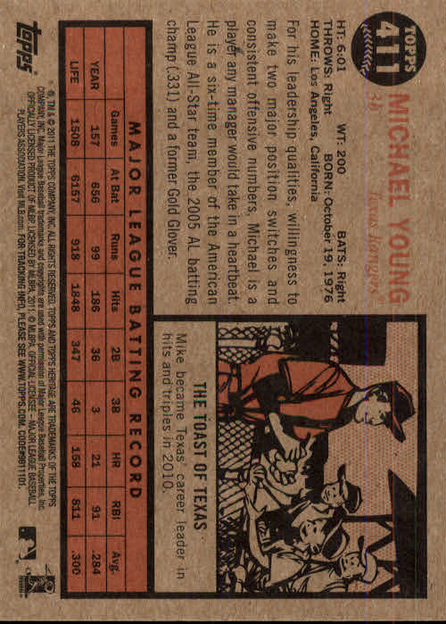 2011-Topps-Heritage-Baseball-Base-Singles-Pick-Your-Cards thumbnail 454