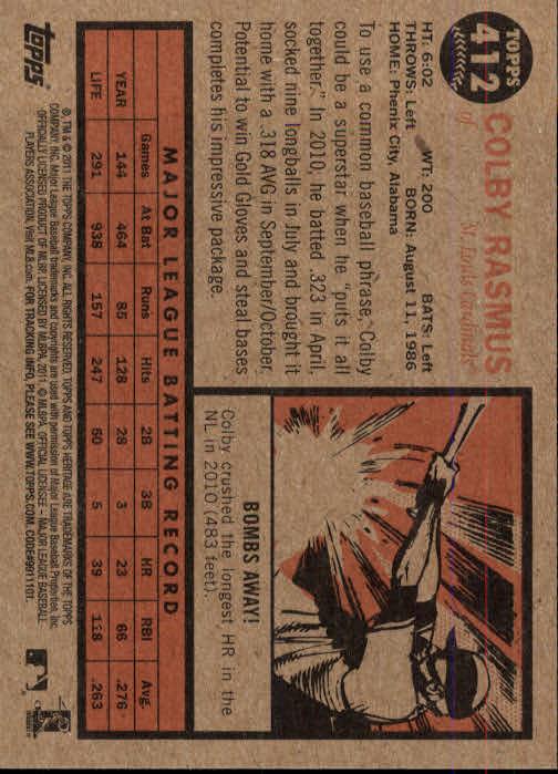 2011-Topps-Heritage-Baseball-Base-Singles-Pick-Your-Cards thumbnail 459