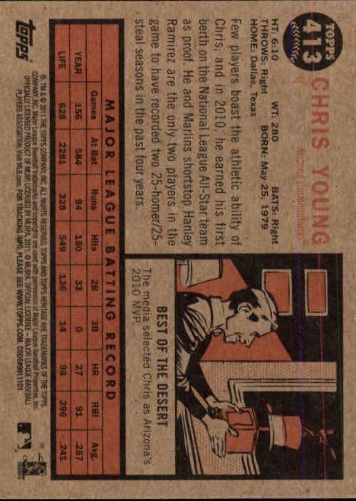 2011-Topps-Heritage-Baseball-Base-Singles-Pick-Your-Cards thumbnail 462
