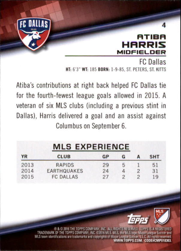 2016-Topps-MLS-Soccer-Base-Singles-Pick-Your-Cards thumbnail 9