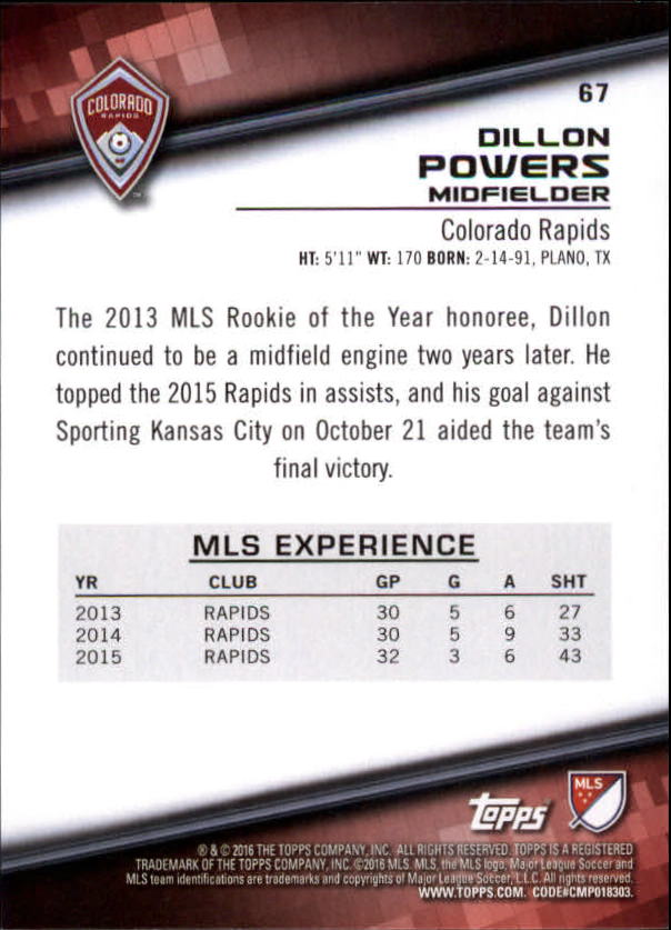 2016-Topps-MLS-Soccer-Base-Singles-Pick-Your-Cards thumbnail 69