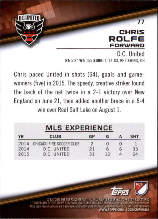 2016-Topps-MLS-Soccer-Base-Singles-Pick-Your-Cards thumbnail 79