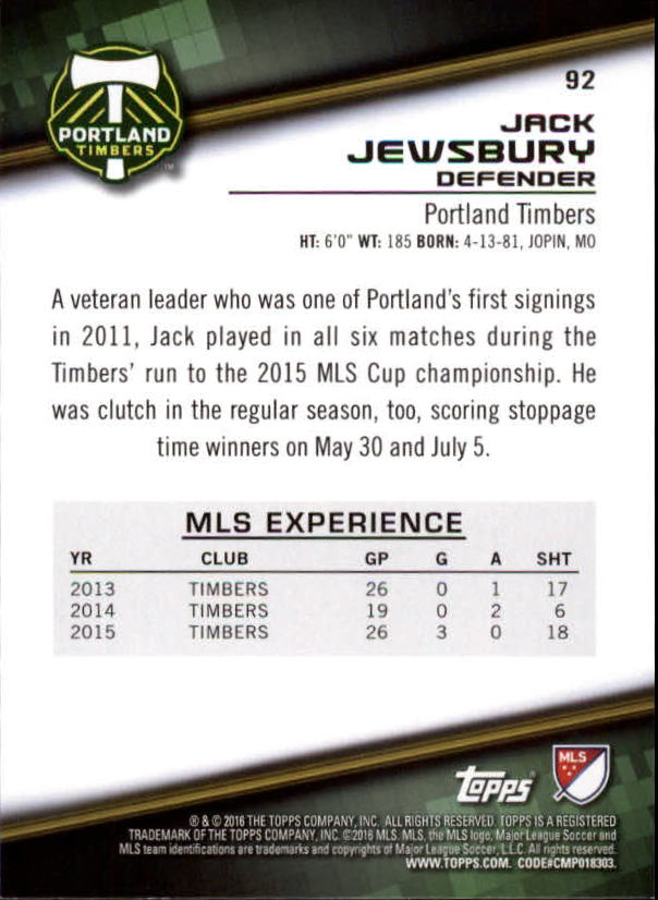 2016-Topps-MLS-Soccer-Base-Singles-Pick-Your-Cards thumbnail 97