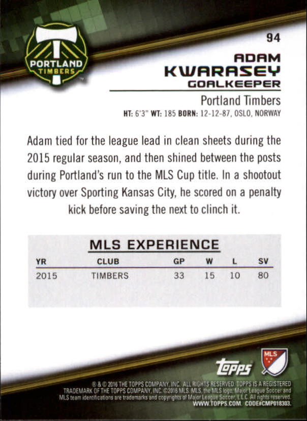 2016-Topps-MLS-Soccer-Base-Singles-Pick-Your-Cards thumbnail 99