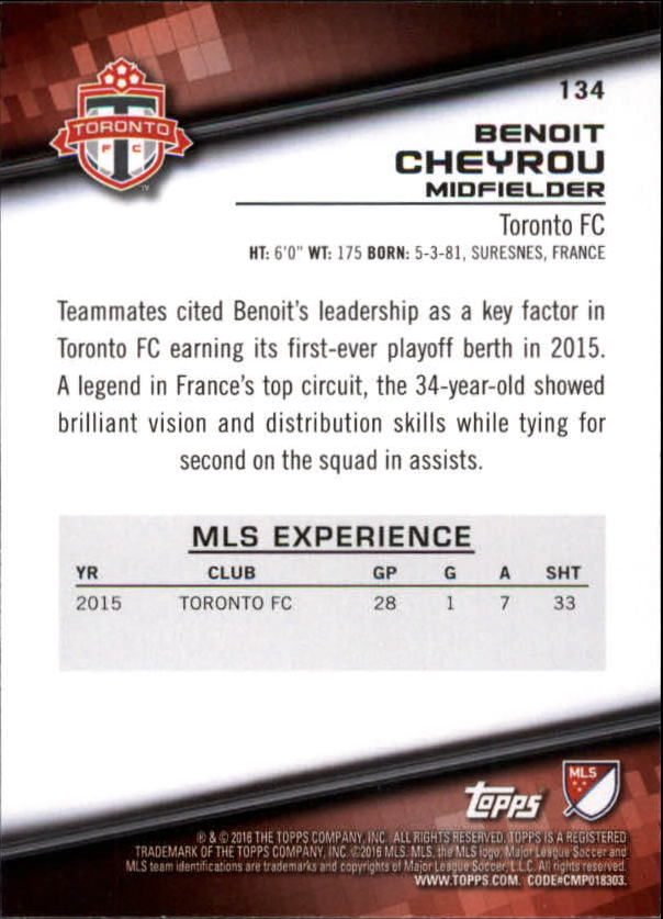 2016-Topps-MLS-Soccer-Base-Singles-Pick-Your-Cards thumbnail 125