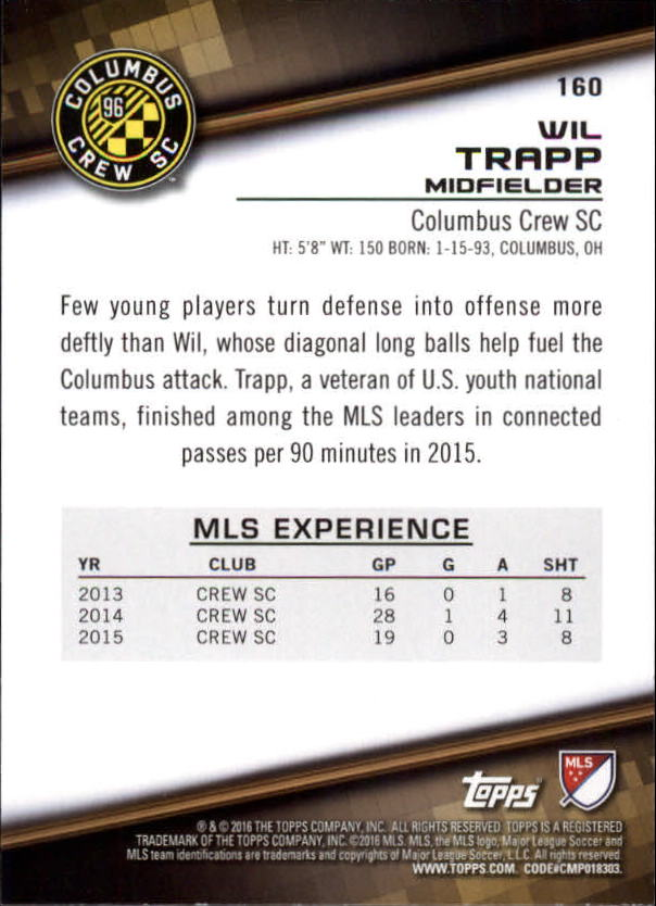 2016-Topps-MLS-Soccer-Base-Singles-Pick-Your-Cards thumbnail 141
