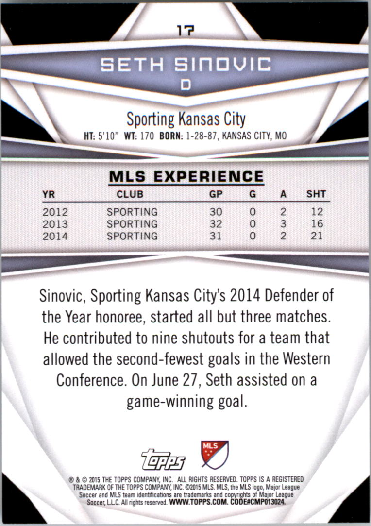2015-Topps-MLS-Soccer-Base-Singles-Pick-Your-Cards thumbnail 17