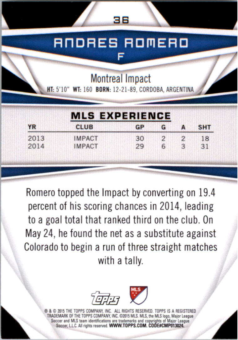2015-Topps-MLS-Soccer-Base-Singles-Pick-Your-Cards thumbnail 47