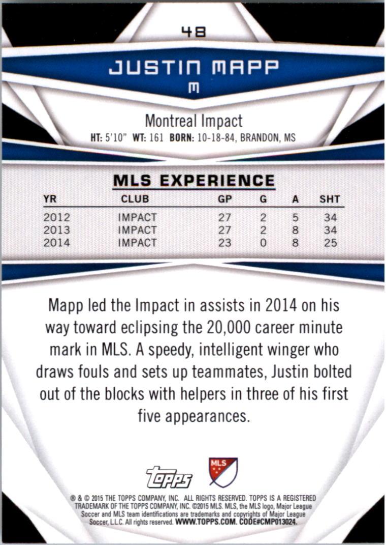 2015-Topps-MLS-Soccer-Base-Singles-Pick-Your-Cards thumbnail 65