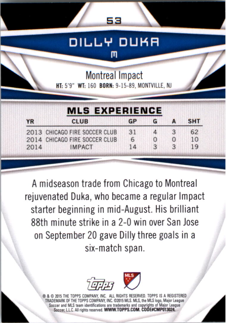 2015-Topps-MLS-Soccer-Base-Singles-Pick-Your-Cards thumbnail 73