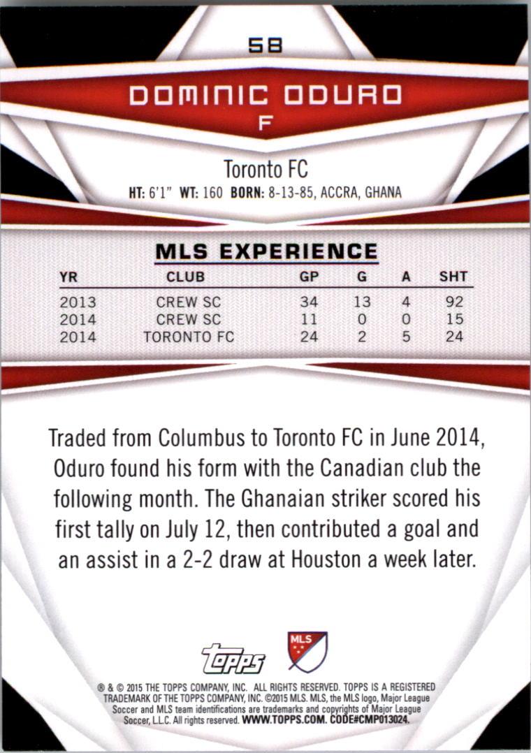 2015-Topps-MLS-Soccer-Base-Singles-Pick-Your-Cards thumbnail 81