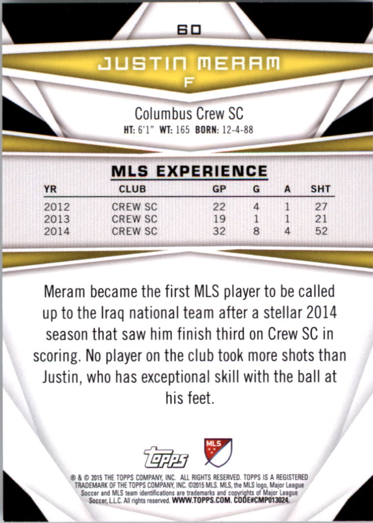 2015-Topps-MLS-Soccer-Base-Singles-Pick-Your-Cards thumbnail 83