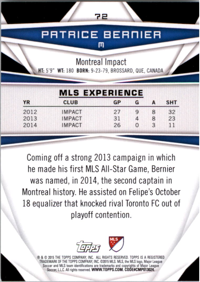 2015-Topps-MLS-Soccer-Base-Singles-Pick-Your-Cards thumbnail 99