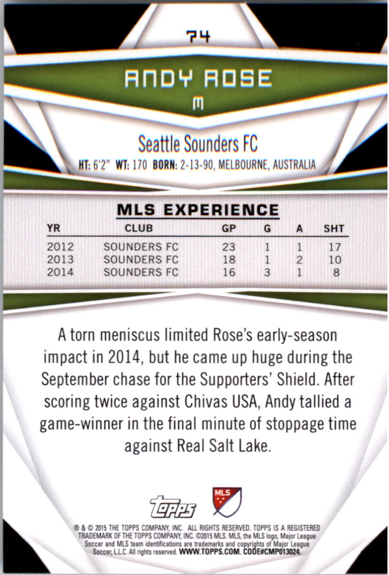 2015-Topps-MLS-Soccer-Base-Singles-Pick-Your-Cards thumbnail 103