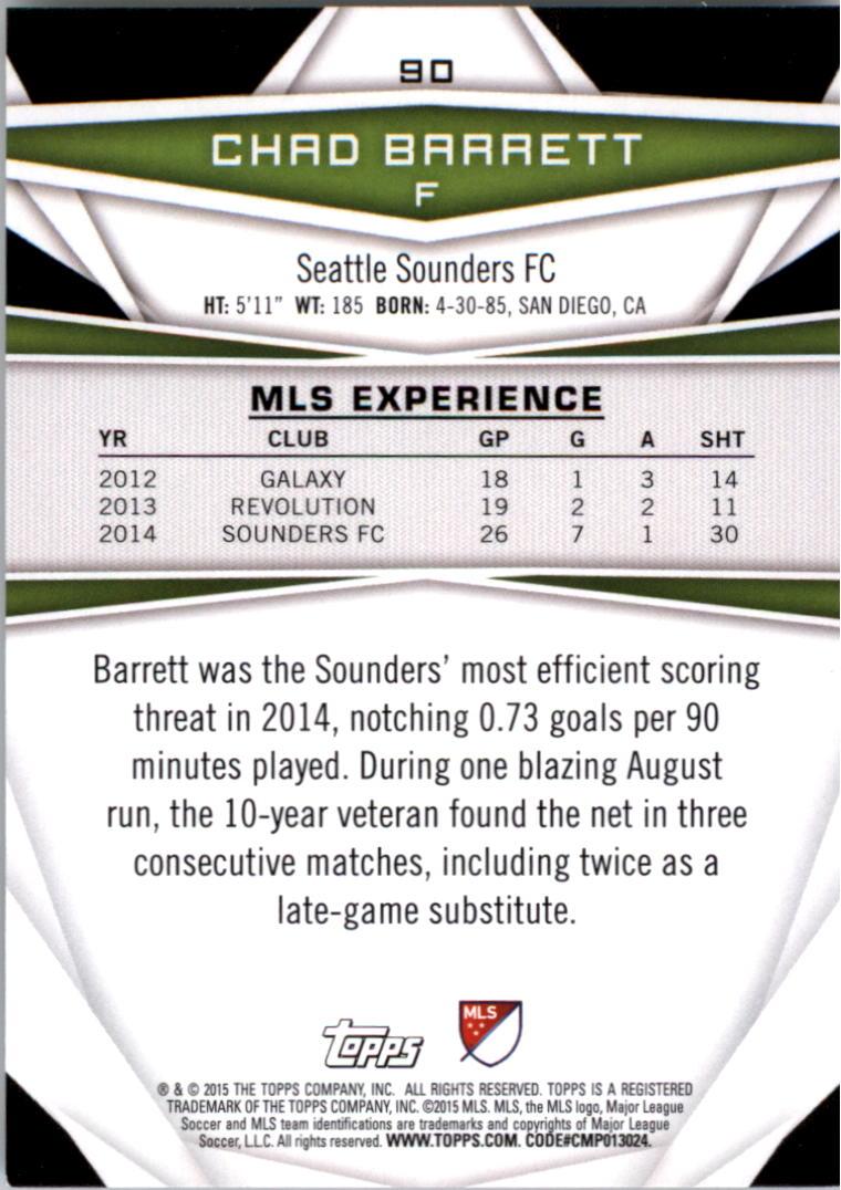 2015-Topps-MLS-Soccer-Base-Singles-Pick-Your-Cards thumbnail 133