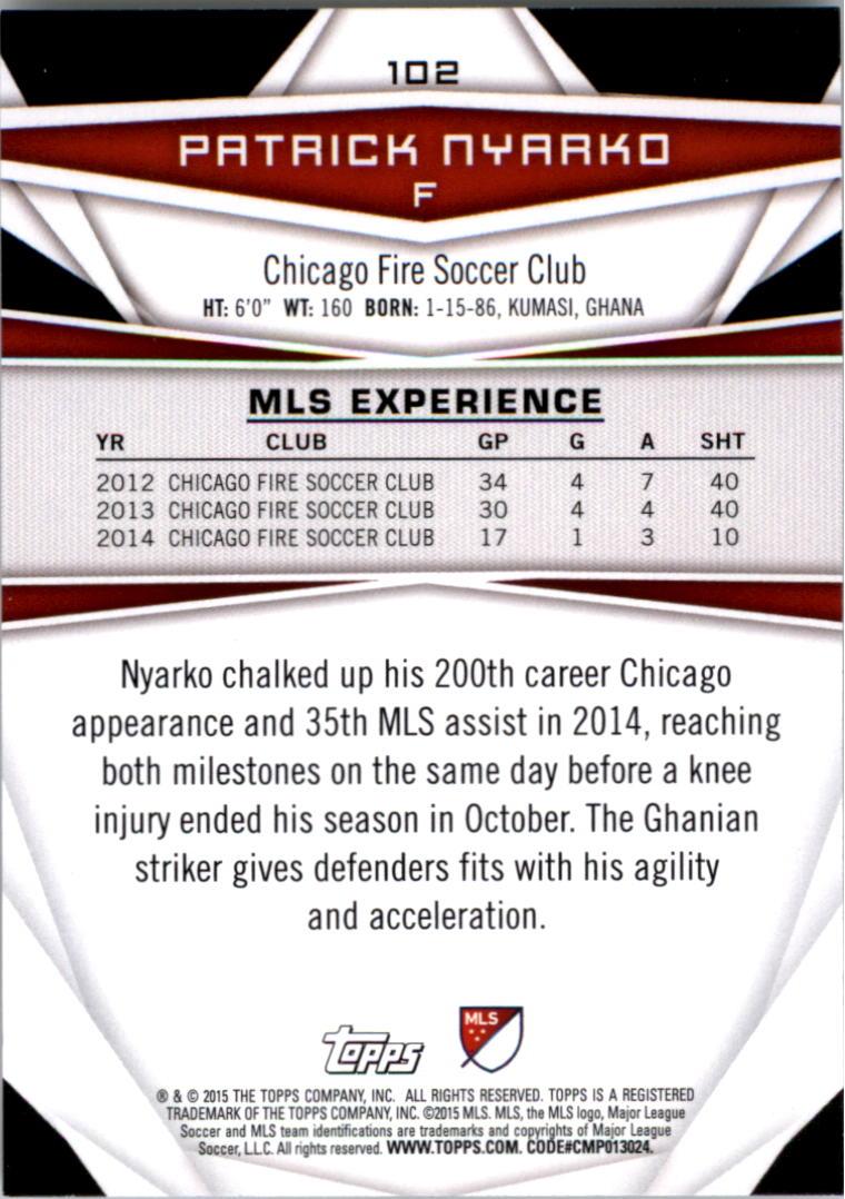 2015-Topps-MLS-Soccer-Base-Singles-Pick-Your-Cards thumbnail 148